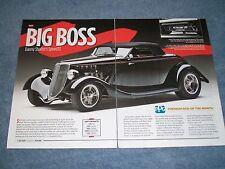 "1933 Ford Cabriolet Street Rod Article ""Big Boss"" Speed33 Kaase Boss 520"