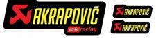 3 Adhésifs Stickers Akrapovic Aprilia Racing Résistant Al Chaleur Jaune