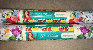 """Pioneer Woman Sweet Rose Bouquet Non Adhesive Shelf Liner 2 Rolls 20"""" x 6ft"""