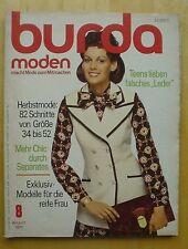 Burda Moden 08/71 Leder Look FOLKLORE-Stickerei Separates KAROS Teens 70er J