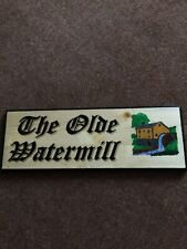 """The Olde Watermill"" - New Handmade House Sign"