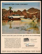 1960 GM HARRISON Air Conditioning - Polar Bear on a Boat Fishing - VINTAGE AD