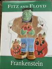 """Fitz and Floyd Rare Frankenstein Canape Plate Halloween 9"""" Holiday Decor Platter"""