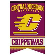 "New Ncaa Central Michigan Chippewas Premium Felt Banner Flag 17"" X 26"" _S118"