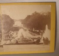 Stereoview Card of Versailles Palace Grounds