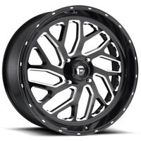 "4-New 16"" Fuel D581 ATV UTV Triton Wheels 16x7 4x137 13 Black Milled Rims 110.1"