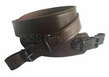 Brown Genuine Leather Rifle Sling Shotgun Air Gun Strap Russian Hunting Shooting