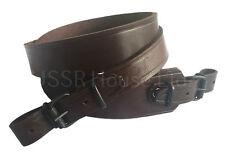 Brown Genuine Leather Rifle Sling Shotgun Air Gun Strap Russian Hunting Shooting