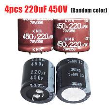 4x 220uF 450V Nippon NCC KMQ 30*30mm PSU Electrolytic Capacitor Random Color US