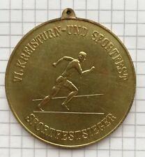 6. Kreisturn & Sportfest Schwerin 1961 150 Jahre Turnen Gold Sport Medaille DDR