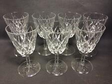 Lot 7 anciens verre à pied eau ou vin de table cristal vintage french antique