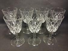 Lote 7 antiguos cristal à pied agua o vino de mesa vintage french