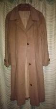 Vintage 1980s Camel Tone Wool Mix Three Quarter Coat Size Type M 12/14