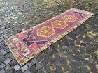 Runner rug, Handmade wool rug, Hallway rug, Turkish rug | 3,0 x 9,1 ft