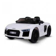 Auto Macchina Elettrica Audi R8 Spyder 12V Per Bambini 2 Posti Bianca Originale