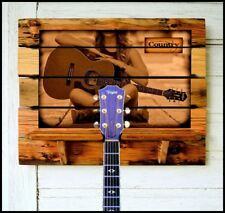 """Guitar Rack """"Country"""" (or Personalize your Photo or favorite Artist) Barn wood"""