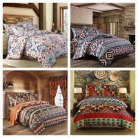 Ethnic Floral Duvet Cover Set for Comforter King Queen Size Bedding Set