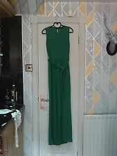 PRETTYLITTLETHING - Gorgeous apple green tie front jumpsuit size 14 bnwts