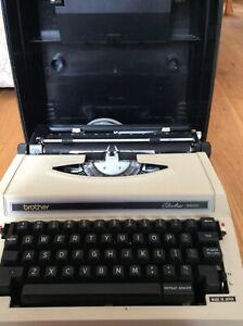 Brother 3600 Vintage Portable Electric Typewriter with Case and Power Cable
