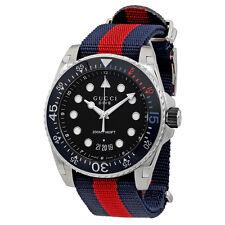 Gucci Dive Black Dial Mens Watch YA136210