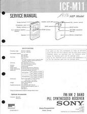 Sony Original Service Manual für ICF- M 11