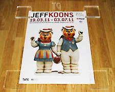 *Final Copy* Rare UNOPENED JEFF KOONS exhibition poster print art Winter Bear
