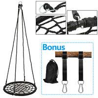 "24"" Tree Web Net Swing Platform Outdoor Kids W/ Safe Hanging Strap EZ Setup"