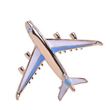 Charm Gold Plated Airplane Aircraft Plane Pin Brooch Alloy Jet Flight Pin Badge