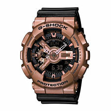 Mens Casio G-Shock Black Rubber Digital Chronograph Alarm Sport Watch GA110GD-9B