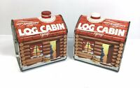Vintage Lot of 2 LOG CABIN SYRUP TINS 100th Anniversary 1887-1987 EMPTY