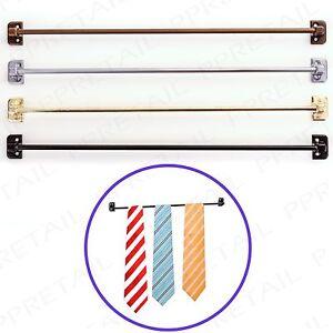 METAL TIE RAIL HANGER Bedroom Wardrobe Door Hanging Bar Storage Rack Belt Scarf