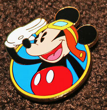 """New listing Pin Disney Pilot Aviator Mickey Mouse Airplane Limited Edition 100 2X1.5"""" Salute"""