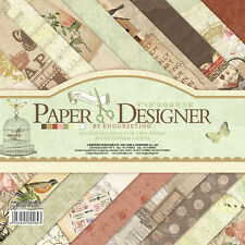 "40 Sheets 8"" Craft Paper Pad Cardstock Pad Photo Background Decorative Paper 006"