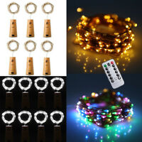 Battery LED Wine Bottle Fairy String Lights Battery Micro Rice Copper Wire light