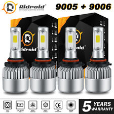 2pair 9005+9006 LED 3800W 570000LM Combo Headlight High + Low Beam 6000K Kit