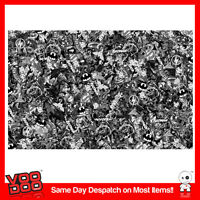 DC COMIC STICKERBOMB WRAP SHEET(CAST air release VINYL) 2m x 1.3m COMIC  B&W