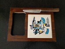MID CENTURY  MODERN ATOMIC   CHEESE TRAY ROSEWOOD KNIFE Vintage Wine Vintage