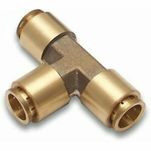 "BRASS 1/2"" 3 WAY HOSE TEE AIR LINE & COMPRESSOR FITTING"
