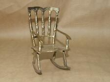 Vintage Doll All Brass Rocking Chair 6 1/2 inches Tall