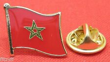 Morocco Moroccan Country Flag Lapel Hat Cap Tie Pin Badge Brooch
