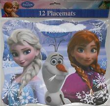 Placemats DISNEY FROZEN Elsa Anna Olaf Party Birthday Supplies 12 Pack