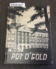 YB1064 Thomas A Devilbiss High School Toledo Ohio 1954 Pot O Gold VO 22 Yearbook