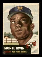 1953 Topps Set Break # 62 Monte Irvin VG *OBGcards*