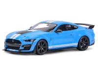 Maisto 1:18 2020 Ford Mustang Shelby GT500 Diecast Model Racing Car Sky Blue NIB