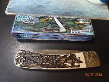 "Ocoee River 5 1/4"" Lock Back Dirt Buster Knife Stag Bone Handle 440A German S.S."