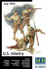 Masterbox 1:35 scale model kit figures - US Infantry 1944 MAS3521