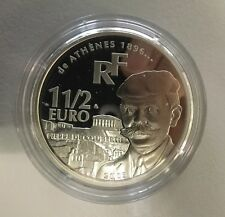 Frankreich 1 1/2 Euro 2003 Olympia 2004, Baron De Coubertin
