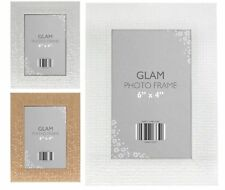 "GLAMOROUS Metallic CHIC Free Standing & Hanging Picture Photo Frame 6"" x 4"""
