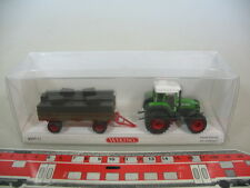m961-0, 5 #Wiking H0 0377 51, Fendt Favorit with Trailer, NIP