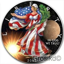 2015 SILVER EAGLE SPACE MERCURY 1 Oz SILVER COLOR MINTAGE 100 PCS WITH COA
